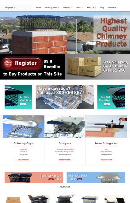 Real Web Marketing Designs New Web Site for Chimney Products Inc.
